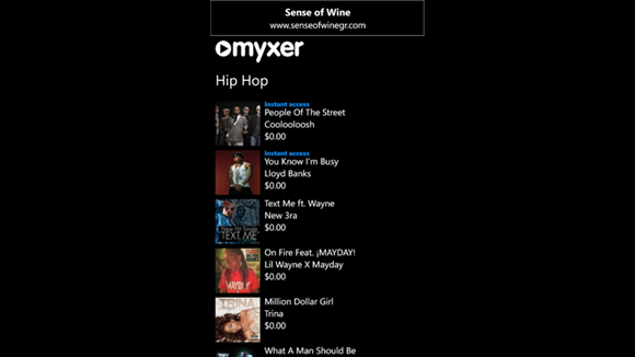 Myxer App for Windows Phone