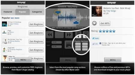 Myxer Free Ringtones App for Android Phone